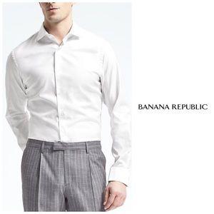 Banana 🍌 Republic Fitted French Cuff Dress Shirt